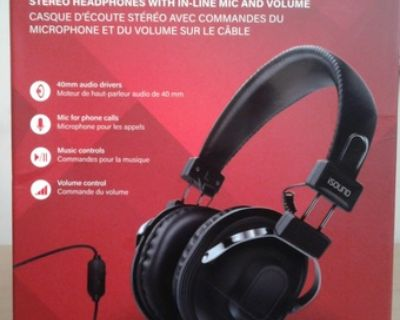 iSound HM-260 Dynamic Stereo Headphones with in-line Mic and Volume
