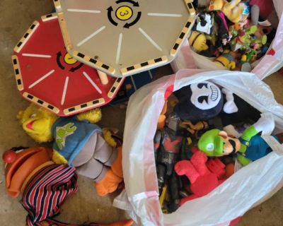 Huge lot of figures and stuffed animals more