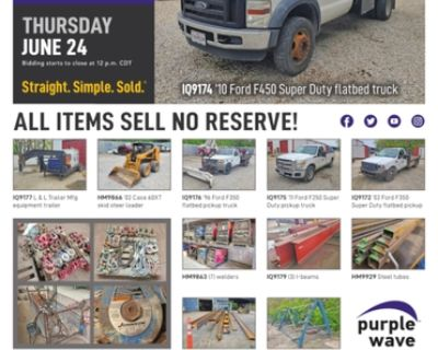June 24 Continental Steel inventory reduction auction