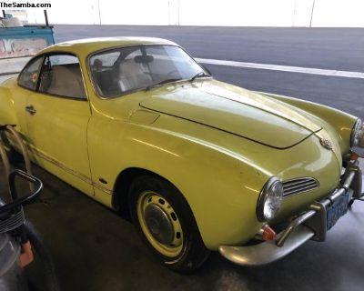 Garage find dry Solid 1968 Karmann Ghia