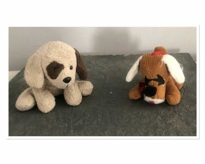 2 very small dog plush toy