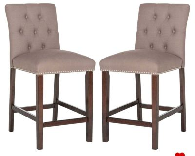 Set of 2 counter barstools chairs