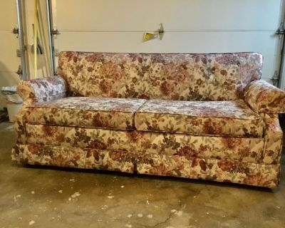 Free couch with hide-a-bed in excellent condition.