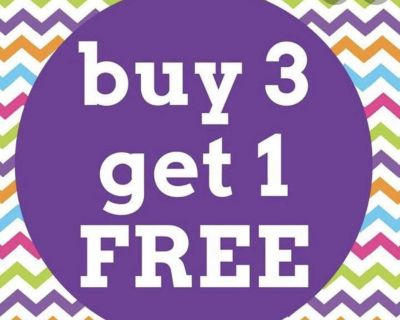 All clothing buy 3 get 1 free