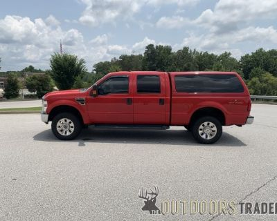 FS 2008 Ford F350 Lariat SRW, 6.8L V10, 4x4, Red, Shell with BedSlide, 90K miles