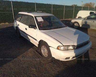Salvage White 1996 Subaru Legacy