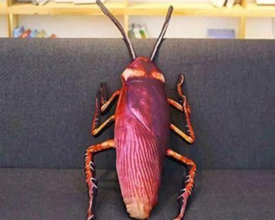 Giant plush cockroach