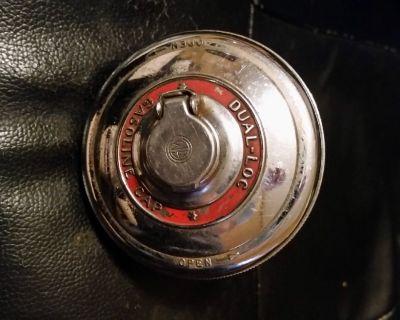 RARE OLD Dual Loc Chrome Locking Gas Cap 20 B 9816081 GASOLINE ANTIQUE CLASSIC