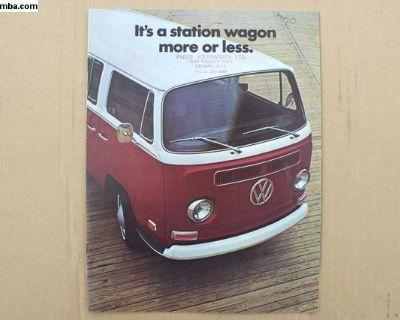 1970 VW Canada Westfalia Brochure 16 pg