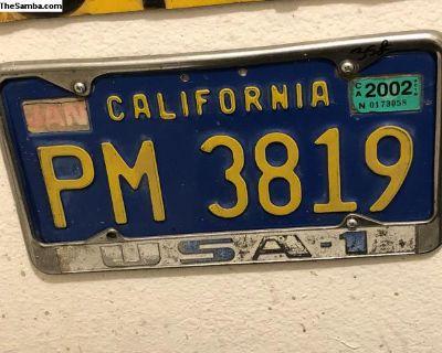OG USA-1 license plate frame