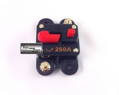 New Bullz Audio Bcb250a 12 Volt 12v 250 Amp Circuit Breaker & Self Test Button