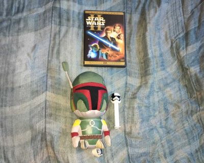 Lot Of Star Wars DVD, Plush Toy And PEZ