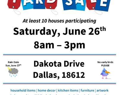 Community Yard Sale June 26th