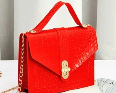 Snakeskin red purse