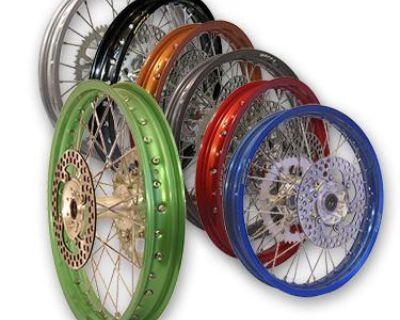 Warp9 Racing Complete Mx Wheel Set W/ Rotors & Sprocket