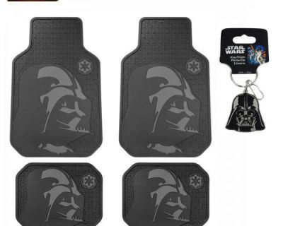 New 5pc Set Star Wars Dark Vader Car Truck Front Rubber All Weather Floor Mats