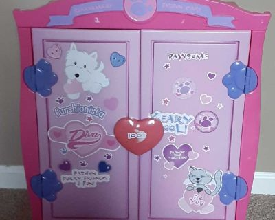 Build a bear wardrobe closet. Front is stickers