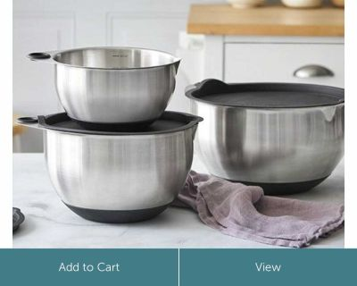 Pampered Chef Stainless Mixing Bowl Set