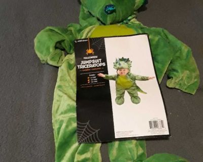 Jumpsuit triceratops toddler costume