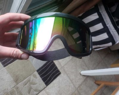 new goggles and vented face mask