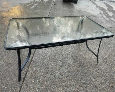 Large patio table six seater