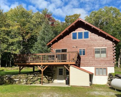 Forested Mountain Cabin near Ski & Hiking Trails w/Private Pond, Gas Grill, WiFi - Stratton