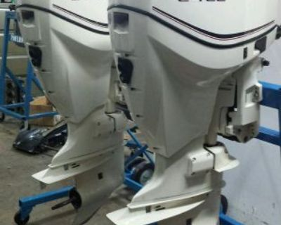 2011 Twin Evinrude 175 Hp Etec Outboard Motors Similar To 150 200
