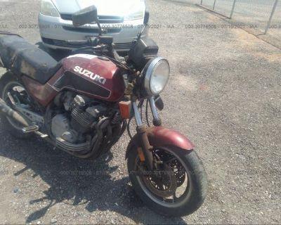 Salvage Red 1983 Suzuki Gs750
