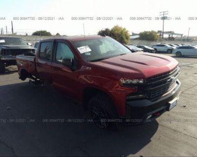 Salvage Burgundy 2021 Chevrolet Silverado 1500
