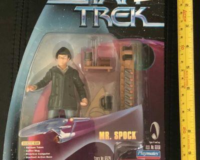 NEW vintage Playmates Star Trek Mr Spock action figure