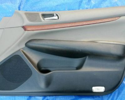 07 08 09 G35 G37 G 35 37 Right Front Door Panel Black And Tan With Wood