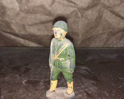 Antique Vintage Lead Toy Soldier Barclay Italian Officer c. 1935-1936 RARE