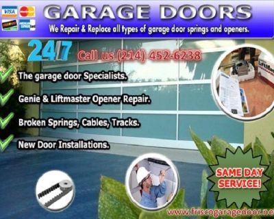 Instant Garage Door Repair Service Frisco, TX – Just $25.95
