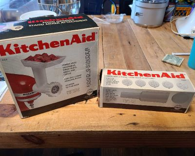 Kitchenaid food grinder attachment and pasta plates