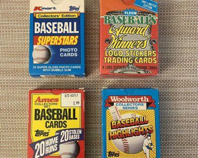 Vintage Baseball Card Collector Packs Lot