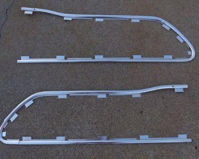 64 65 1965 66 1966 Ford Truck F100 F250 Custom Cab Door Panel Trim Molding Pair