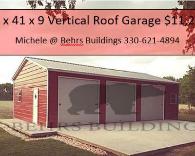 22 x 41 x 9 Vertical Roof Garage