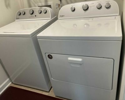 One year old whirlpool washer & dryer set. Please read description. WILL BE CROSS POSTING