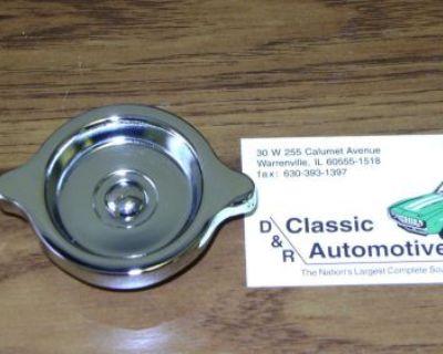 Oil Filler Cap Chrome 69-70 Camaro Corvette Chevelle Nova **in Stock!** S Rivet