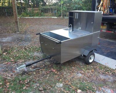 The Big Dog Hot Dog Cart W/ Sink & Grill RTR# 0113538-01