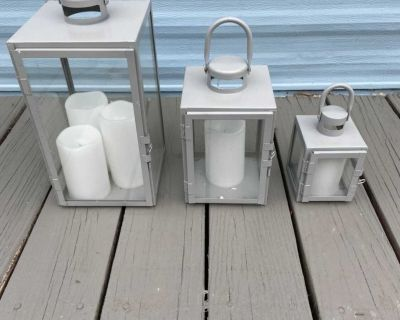 3 lanterns with candles (battery )