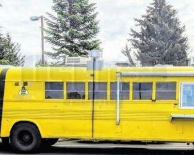 Newly Painted 40' Bluebird Diesel Bustaurant Food Truck with Bathroom