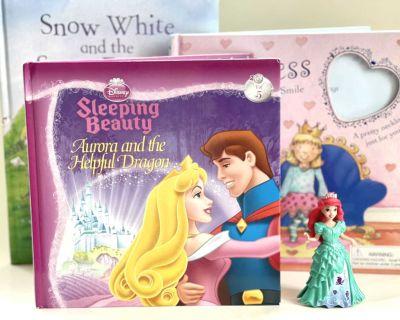 Princess Theme Book Lot Plus Minifigure