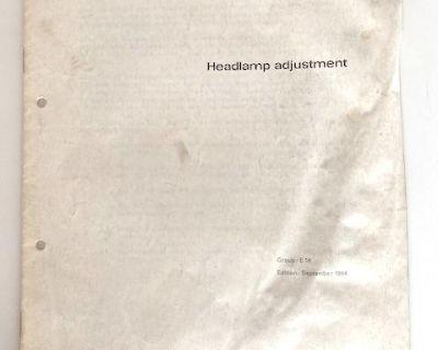 VW Canada 1964 Headlight Adjustment Manual