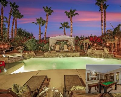 Bellagio: Pool, Spa, Fireplace, Fire Pit Ping Pong - Indio