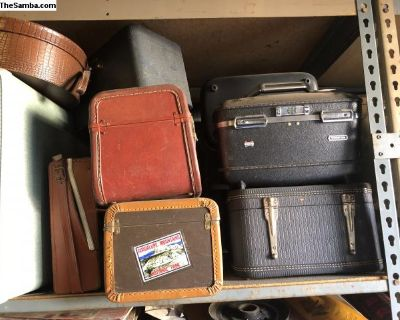 Vintage luggage overnight bags