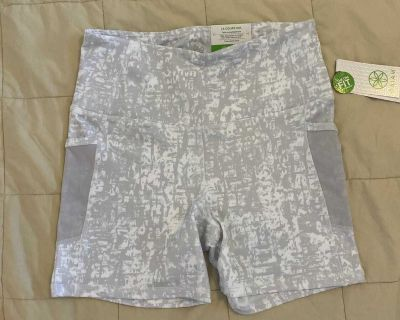 New Gaiam Mosture Wicking Workout Shorts Sz S
