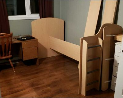 Loft bed (not completely assembled in picture)