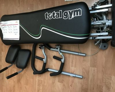 Total gym with accessories