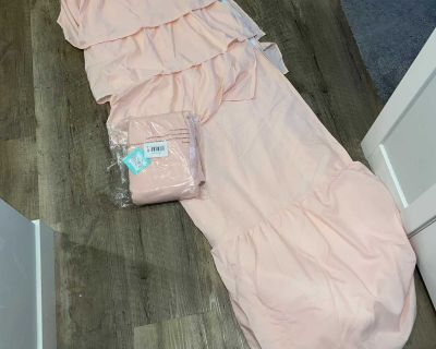 SET of 2 new pink blackout curtains